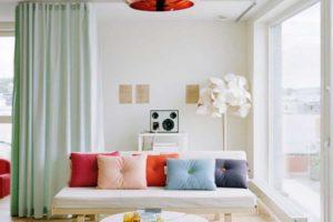 cortinas, cortinas traslúcidas, cortinas piso pequeño