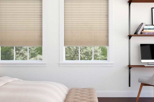 decoracion, cortinas plisadas