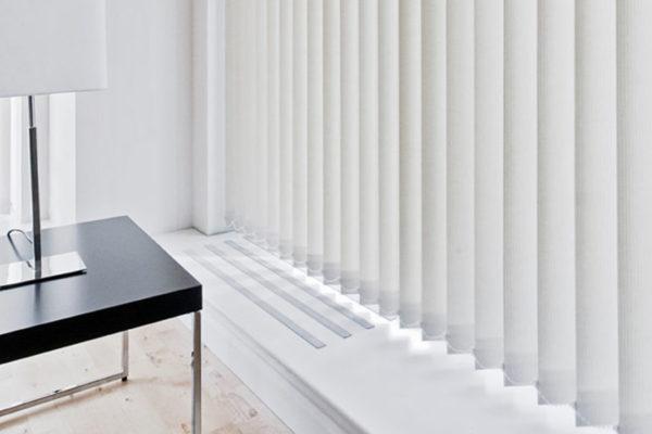 cortinas de lamas verticales, decoracion